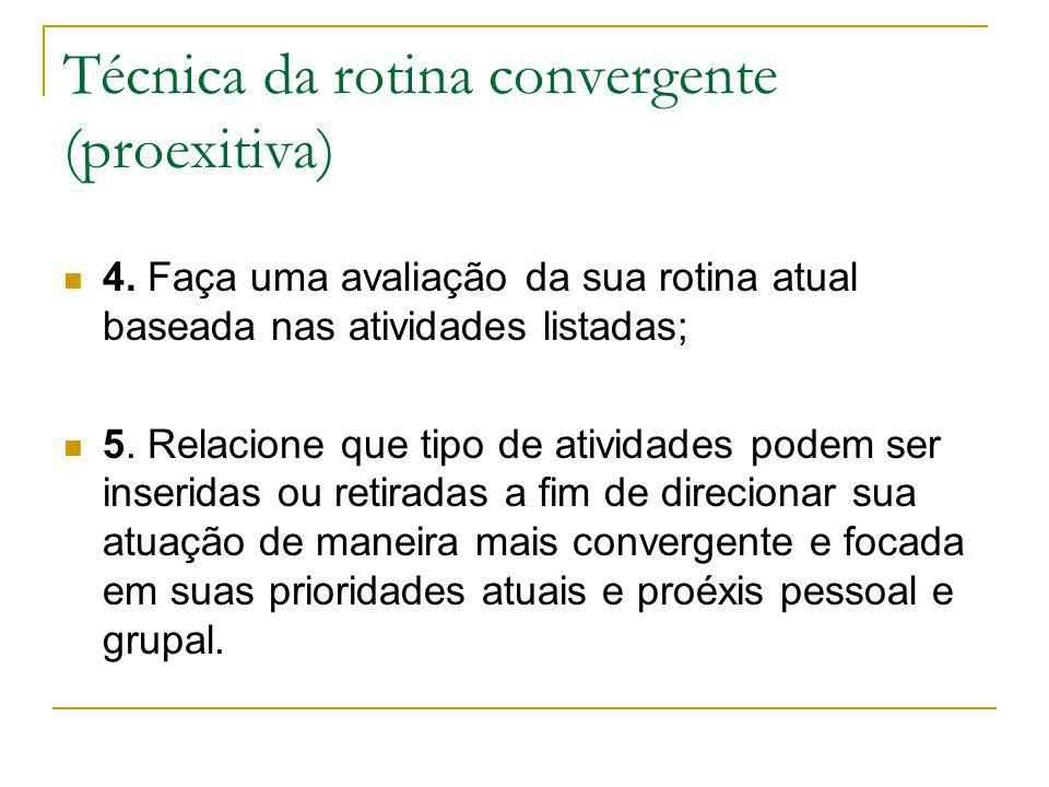 Técnica da rotina convergente (proexitiva)