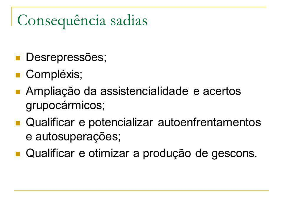 Consequência sadias Desrepressões; Compléxis;