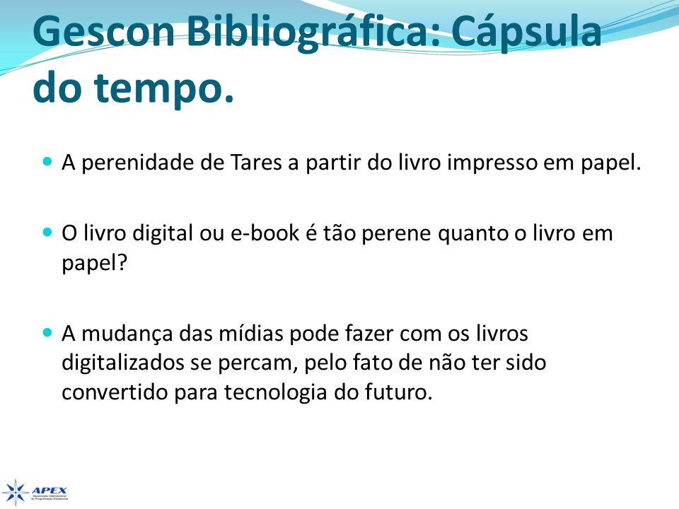Gescon Bibliográfica: Cápsula do tempo.
