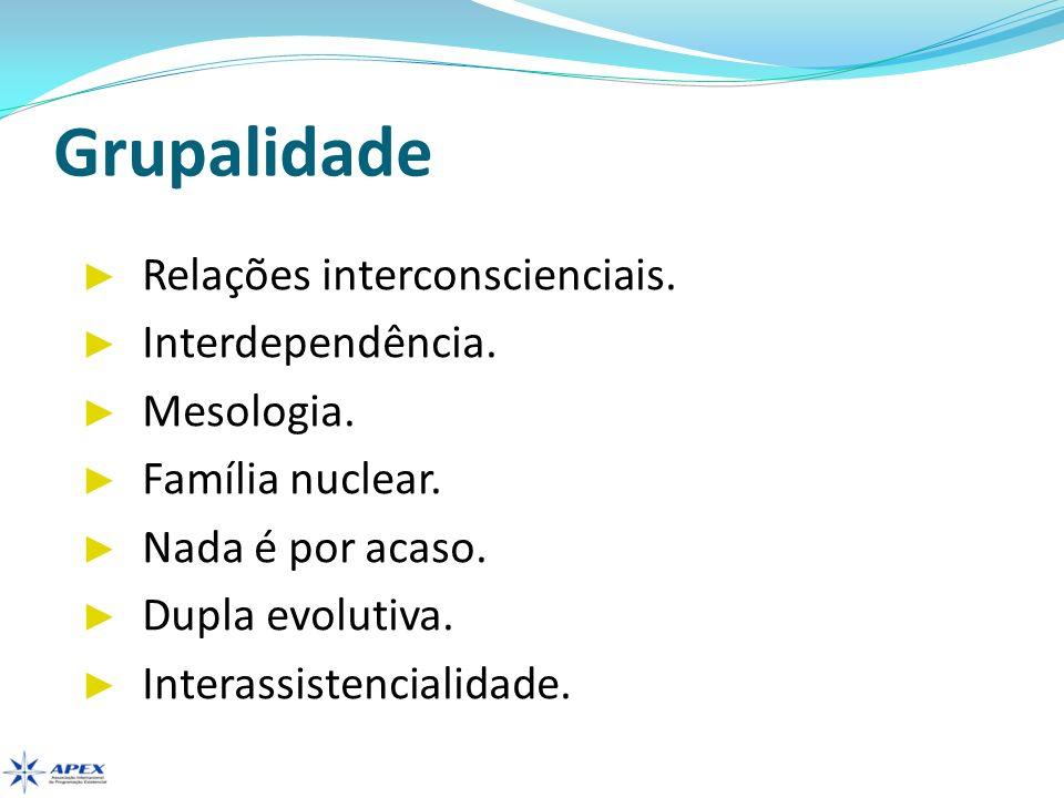 Grupalidade Relações interconscienciais. Interdependência. Mesologia.