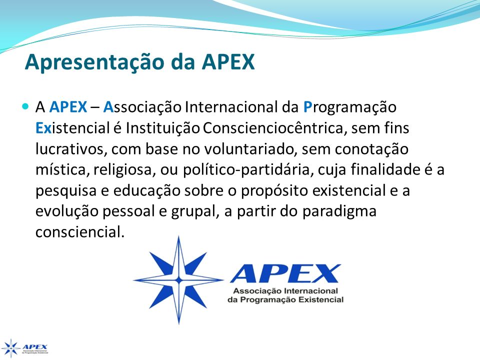 Apresentação da APEX
