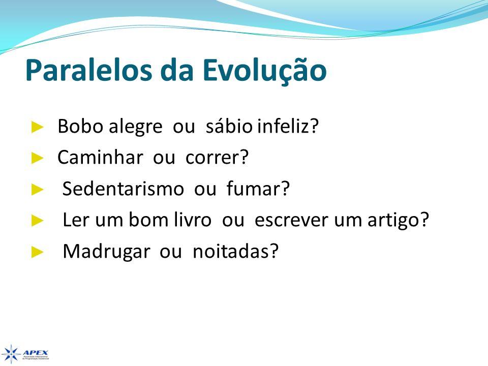 Paralelos da Evolução Bobo alegre ou sábio infeliz