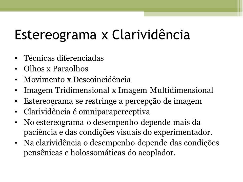 Estereograma x Clarividência