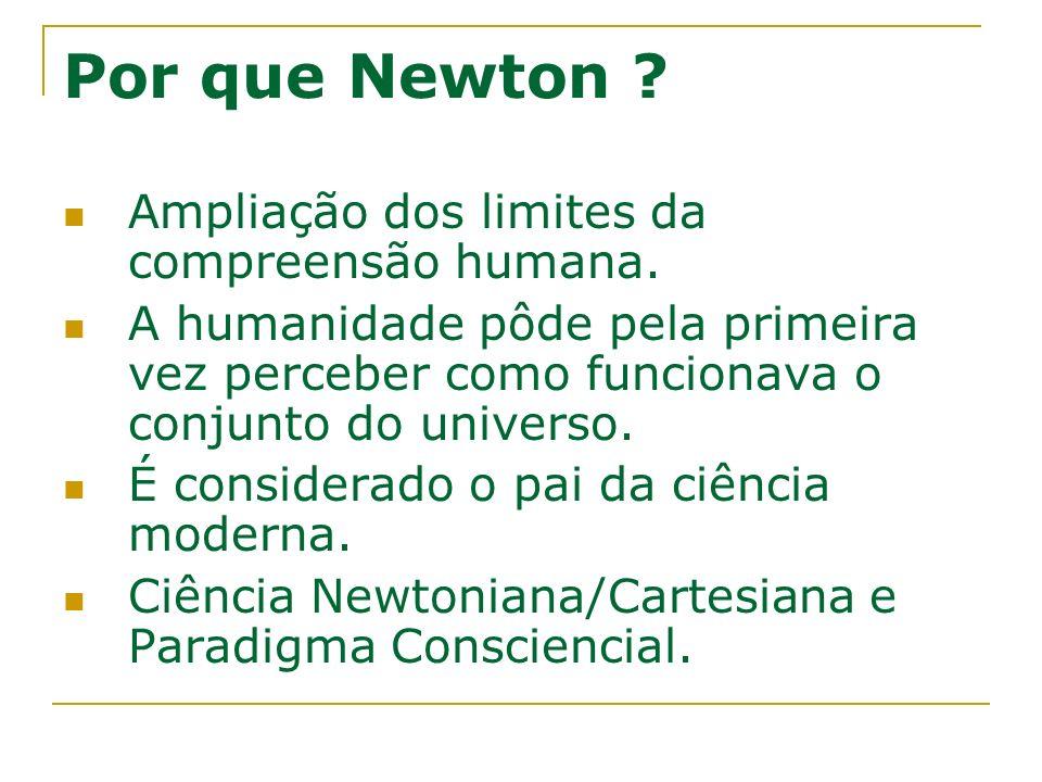 Por que Newton Ampliação dos limites da compreensão humana.
