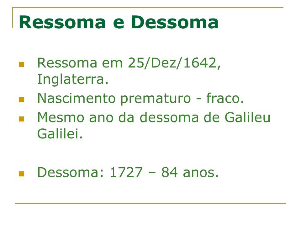 Ressoma e Dessoma Ressoma em 25/Dez/1642, Inglaterra.