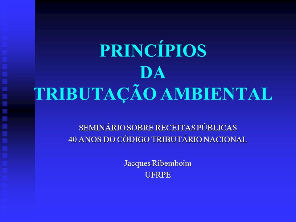 PRINCÍPIOS DA TRIBUTAÇÃO AMBIENTAL