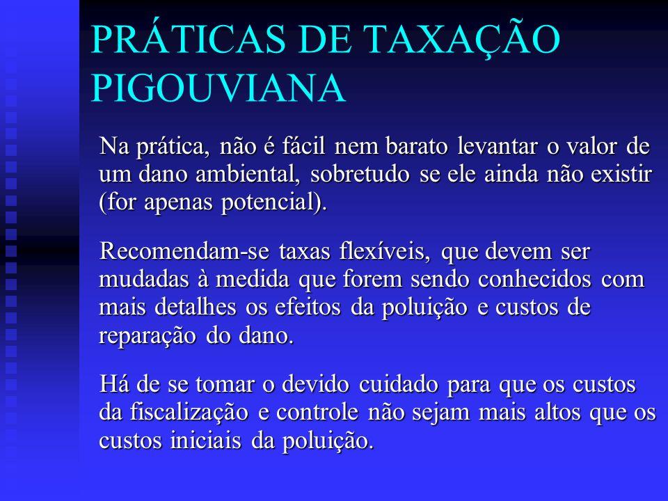 PRÁTICAS DE TAXAÇÃO PIGOUVIANA