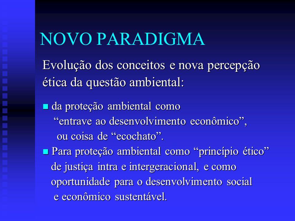 NOVO PARADIGMA Evolução dos conceitos e nova percepção
