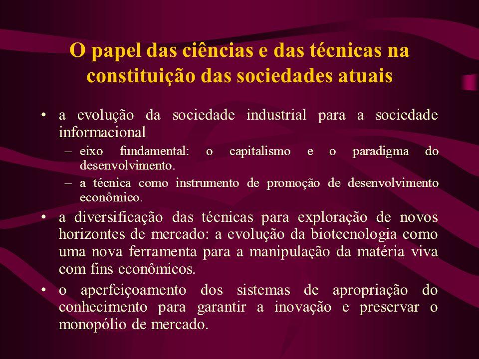 O papel das ciências e das técnicas na constituição das sociedades atuais