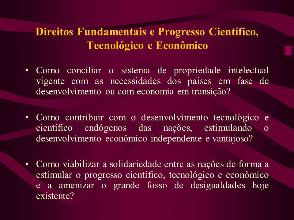 Direitos Fundamentais e Progresso Científico, Tecnológico e Econômico
