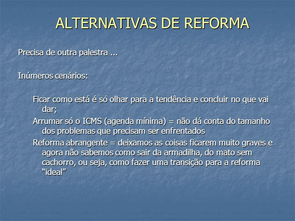 ALTERNATIVAS DE REFORMA