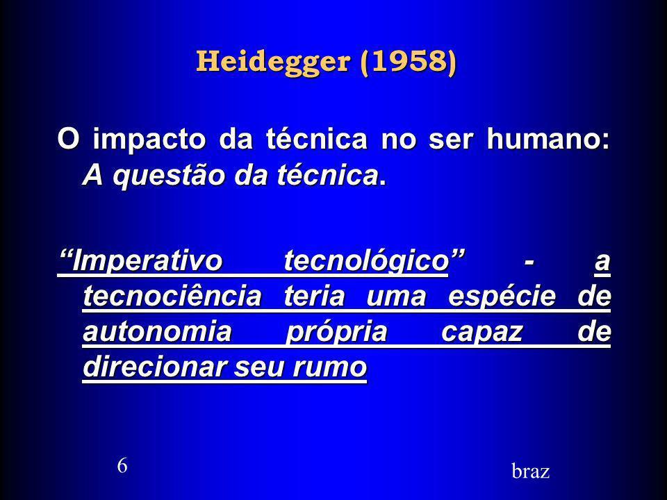 O impacto da técnica no ser humano: A questão da técnica.