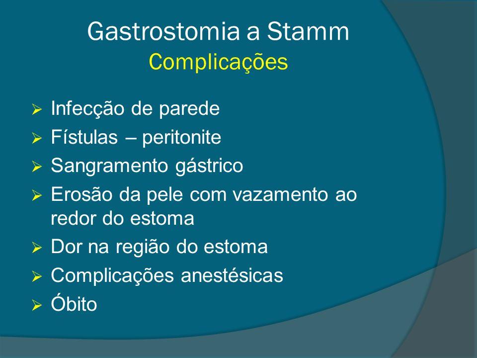 Gastrostomia a Stamm Complicações