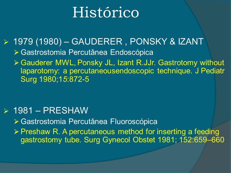 Histórico 1979 (1980) – GAUDERER , PONSKY & IZANT 1981 – PRESHAW