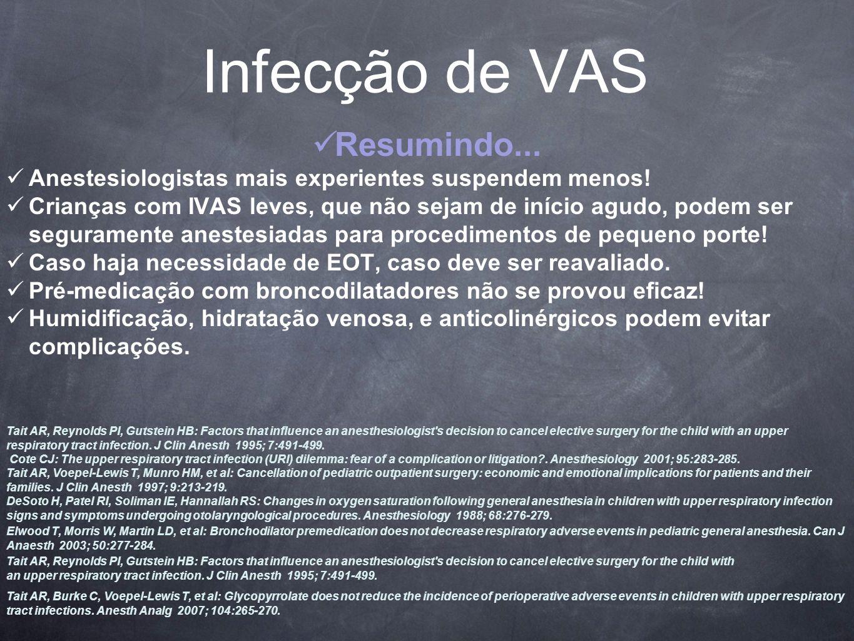Infecção de VAS Resumindo...