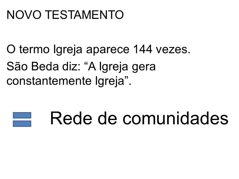 O termo Igreja aparece 144 vezes.