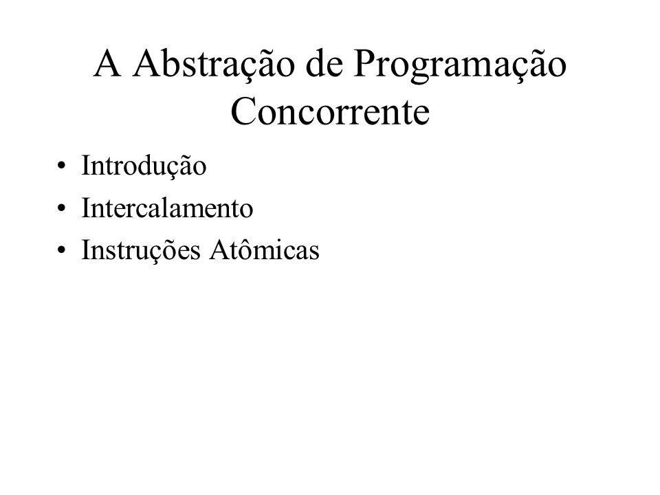 A Abstração de Programação Concorrente