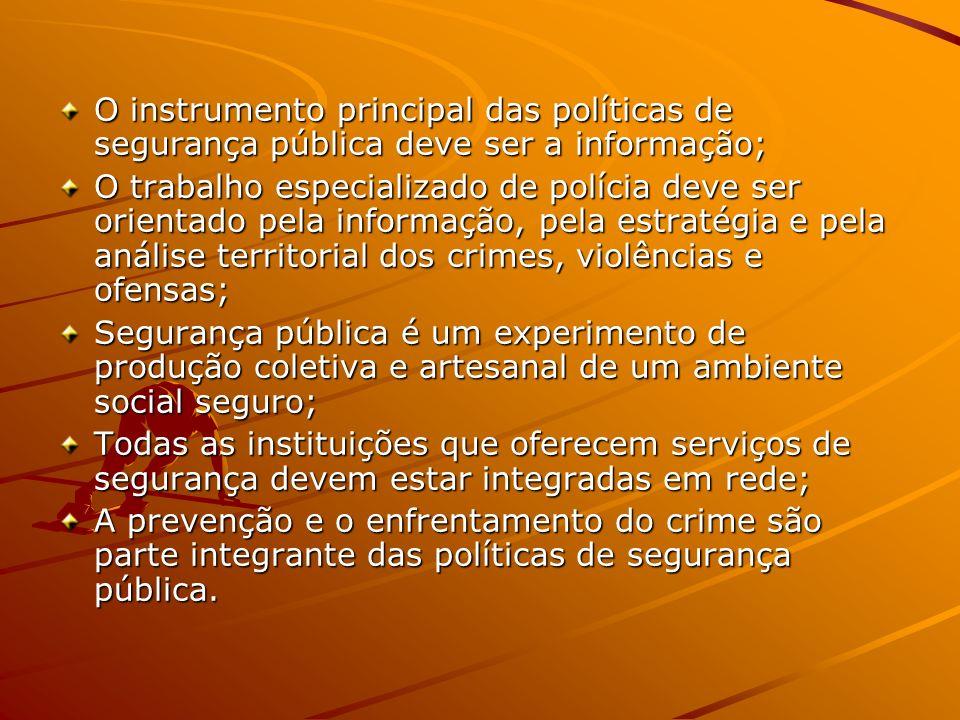 O instrumento principal das políticas de segurança pública deve ser a informação;