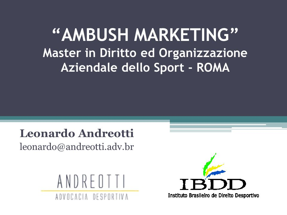 Leonardo Andreotti leonardo@andreotti.adv.br