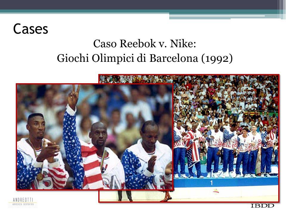 Caso Reebok v. Nike: Giochi Olimpici di Barcelona (1992)