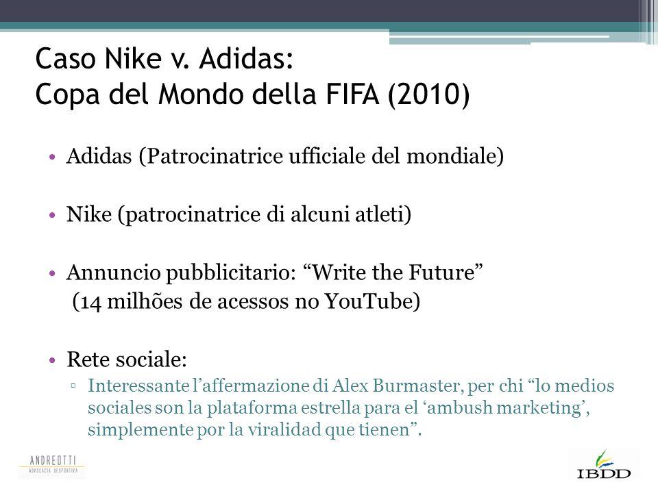 Caso Nike v. Adidas: Copa del Mondo della FIFA (2010)