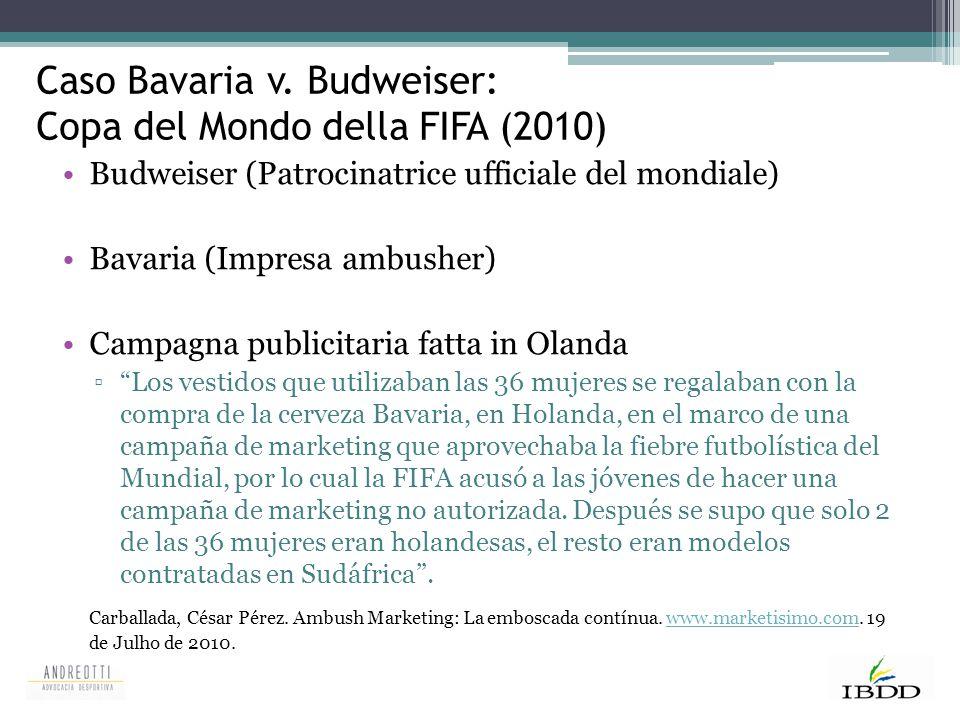 Caso Bavaria v. Budweiser: Copa del Mondo della FIFA (2010)