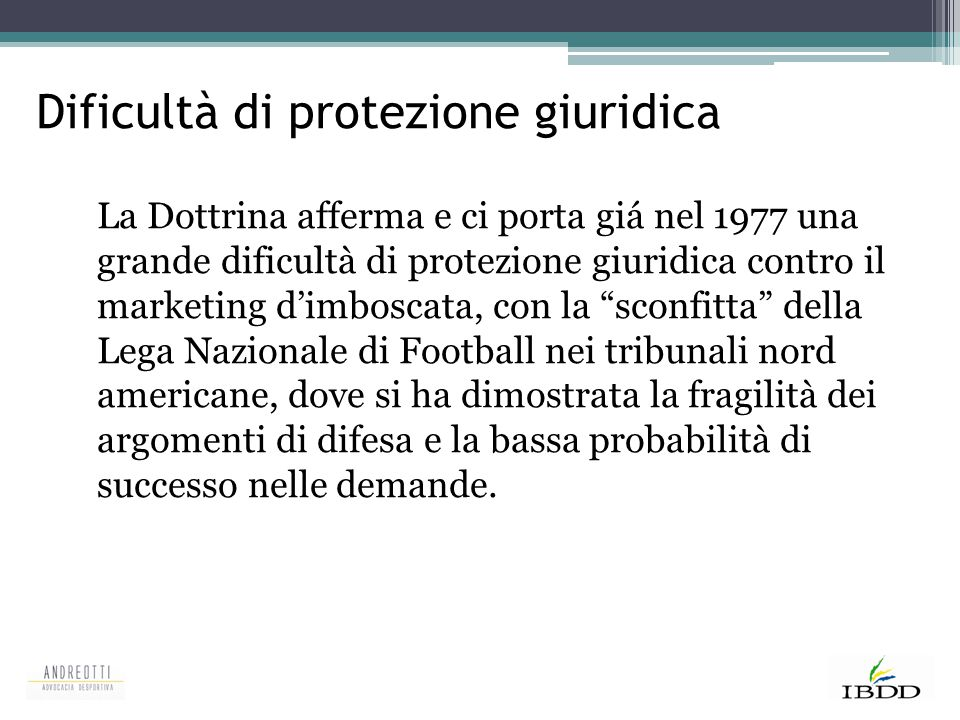 Dificultà di protezione giuridica