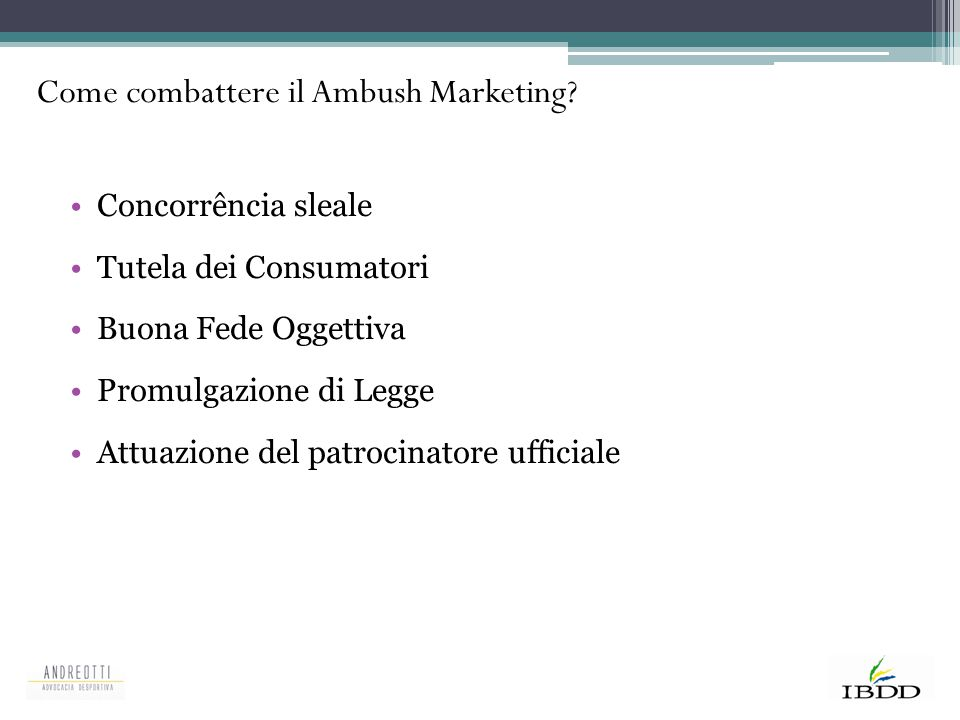 Come combattere il Ambush Marketing