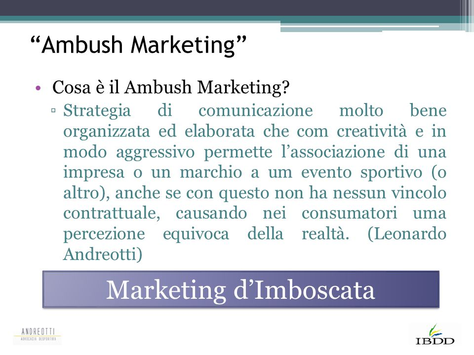 Marketing d'Imboscata