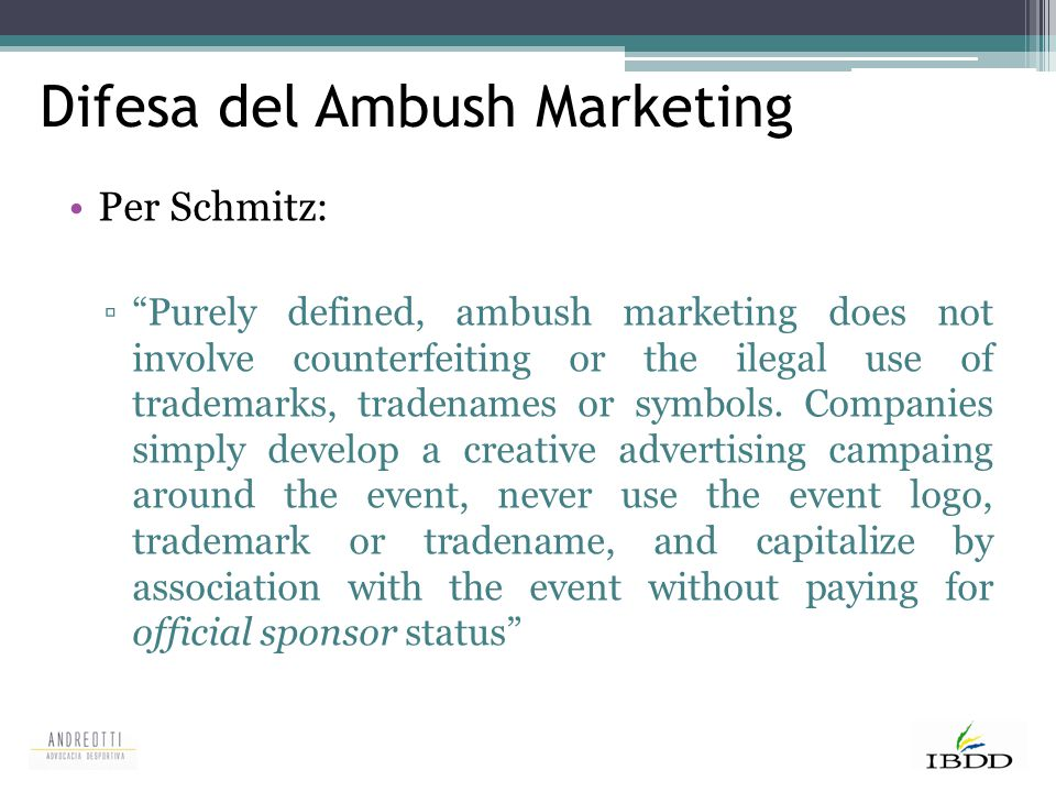 Difesa del Ambush Marketing