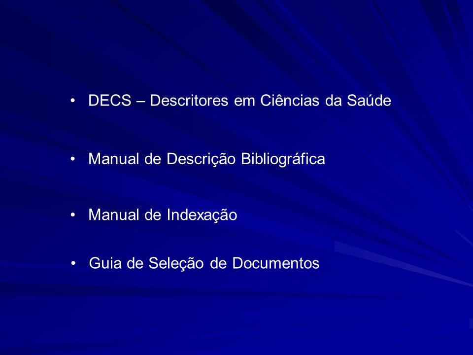 DECS – Descritores em Ciências da Saúde