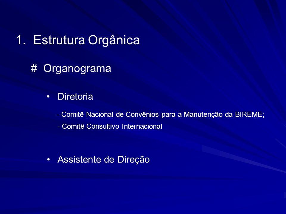 Estrutura Orgânica # Organograma Diretoria