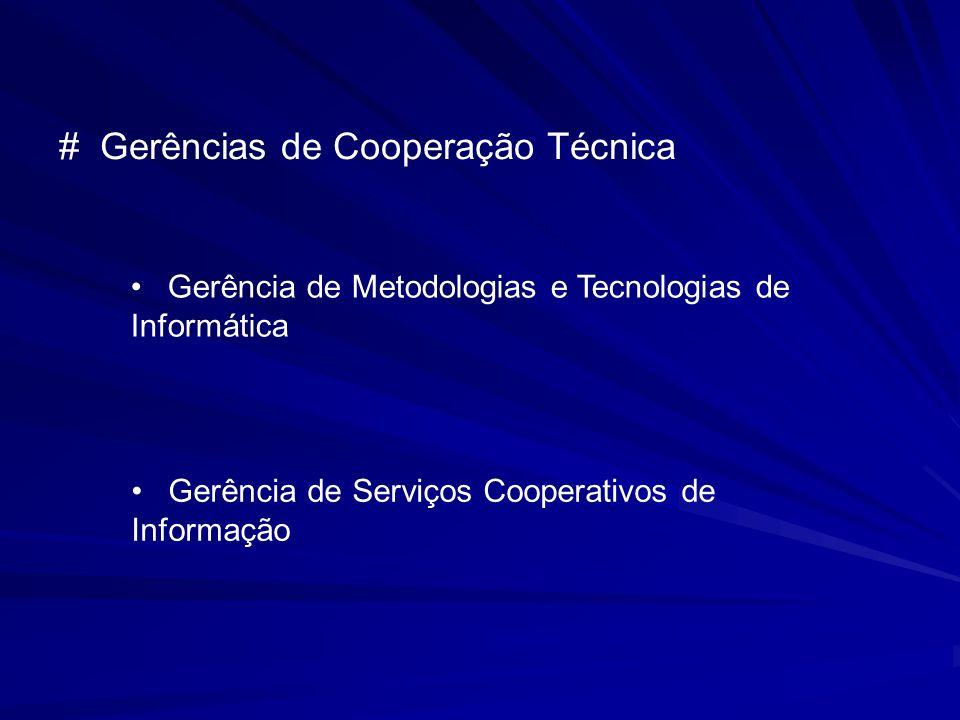 # Gerências de Cooperação Técnica