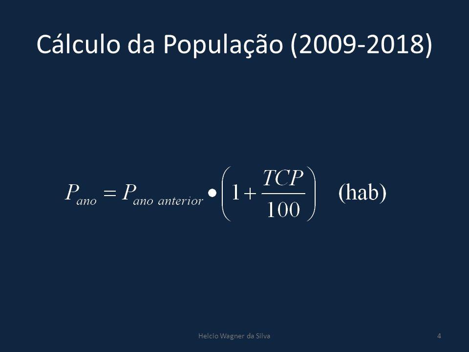 Cálculo da População (2009-2018)