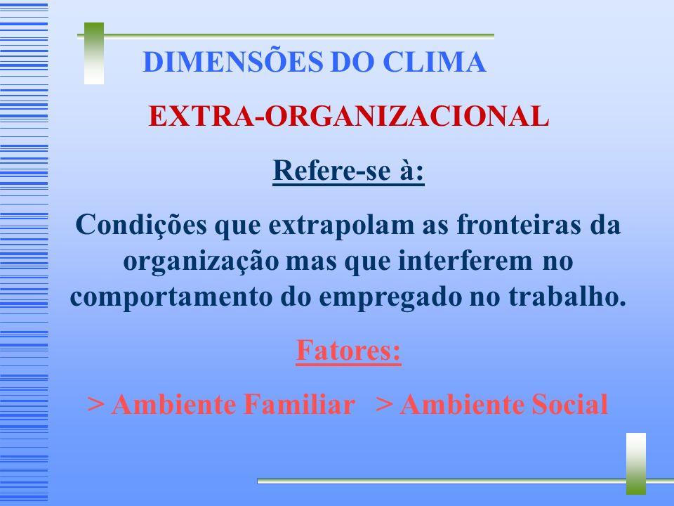EXTRA-ORGANIZACIONAL > Ambiente Familiar > Ambiente Social