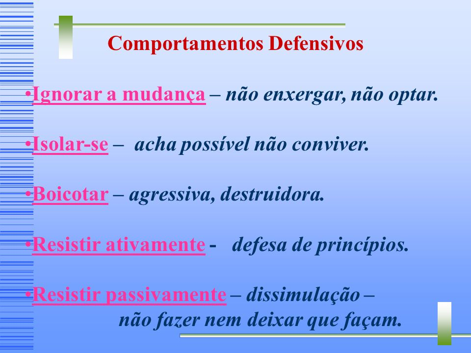 Comportamentos Defensivos