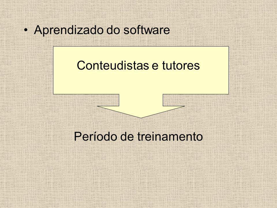 Aprendizado do software Conteudistas e tutores