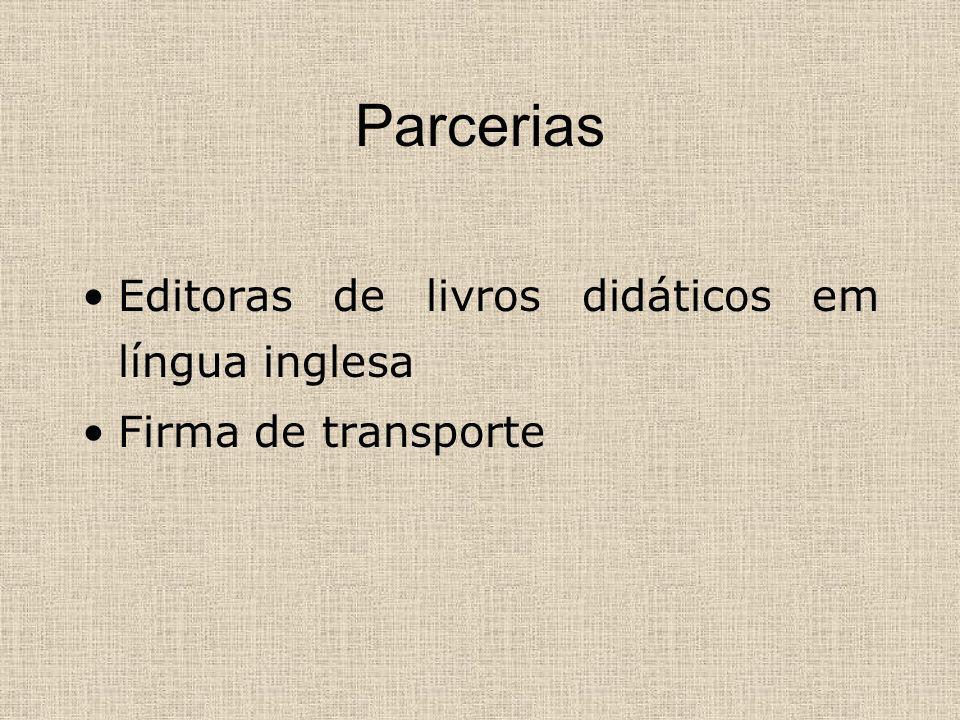 Parcerias Editoras de livros didáticos em língua inglesa