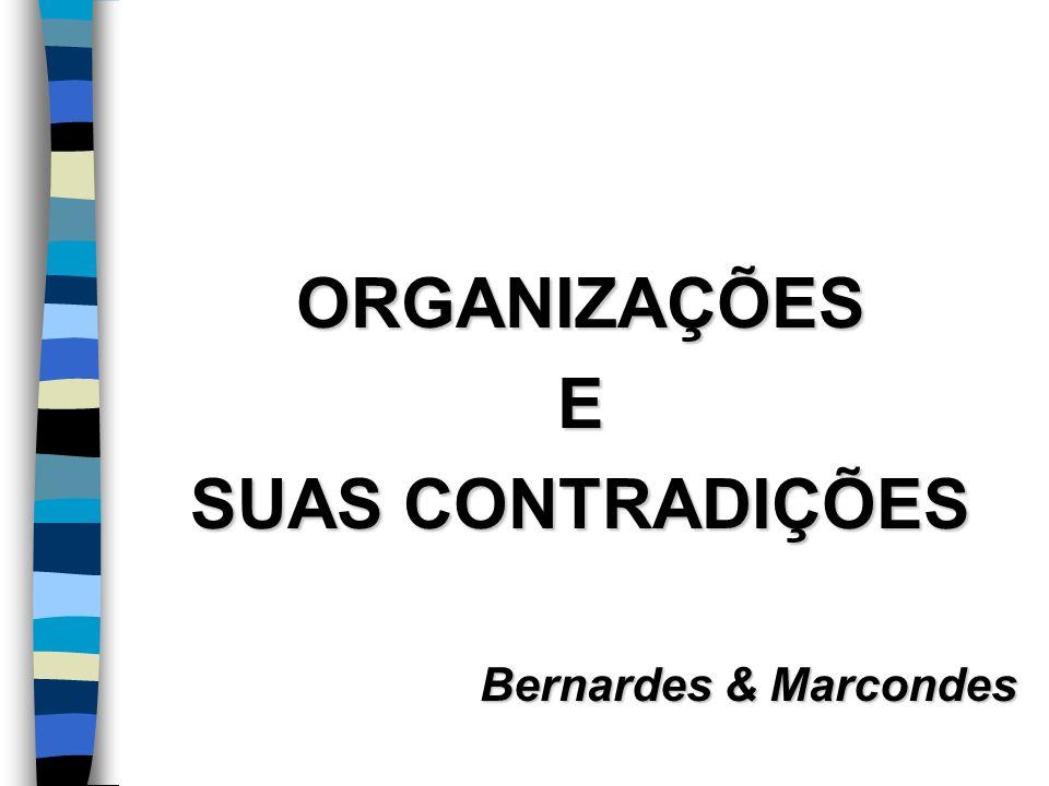 ORGANIZAÇÕES E SUAS CONTRADIÇÕES