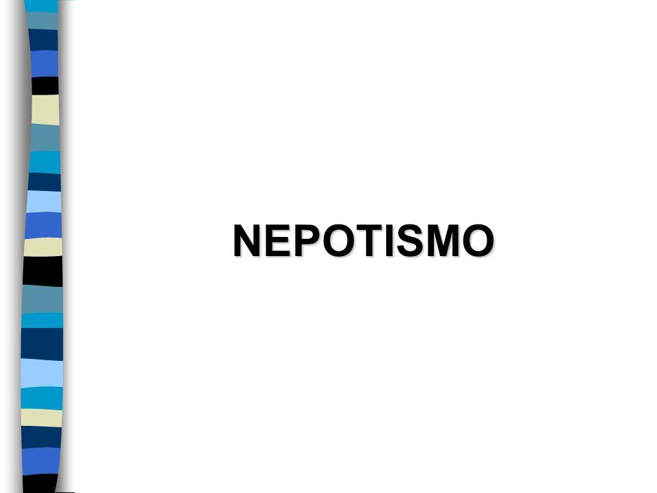 NEPOTISMO