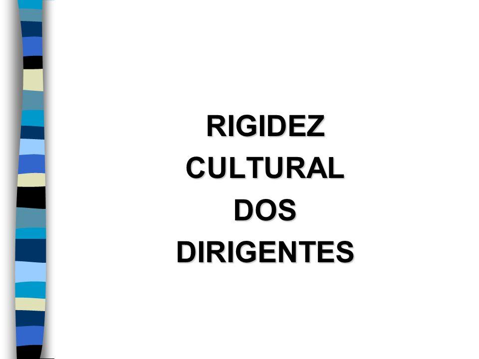 RIGIDEZ CULTURAL DOS DIRIGENTES