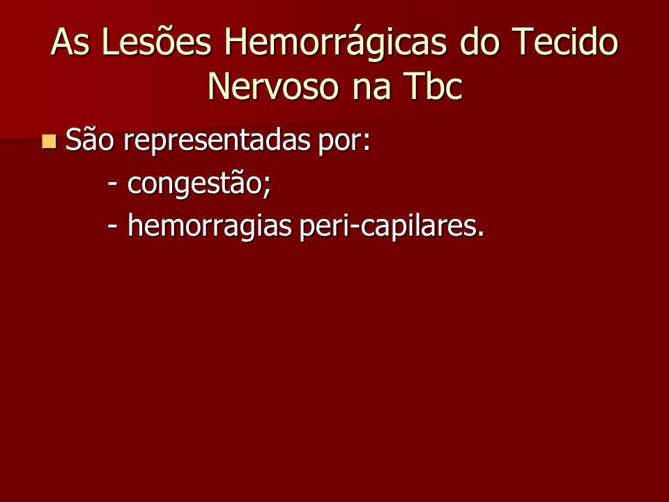 As Lesões Hemorrágicas do Tecido Nervoso na Tbc