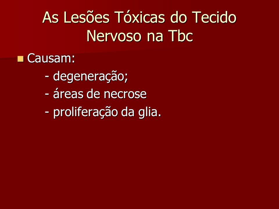 As Lesões Tóxicas do Tecido Nervoso na Tbc