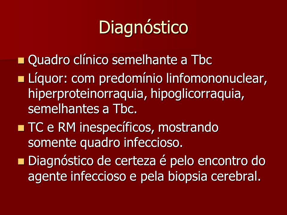 Diagnóstico Quadro clínico semelhante a Tbc
