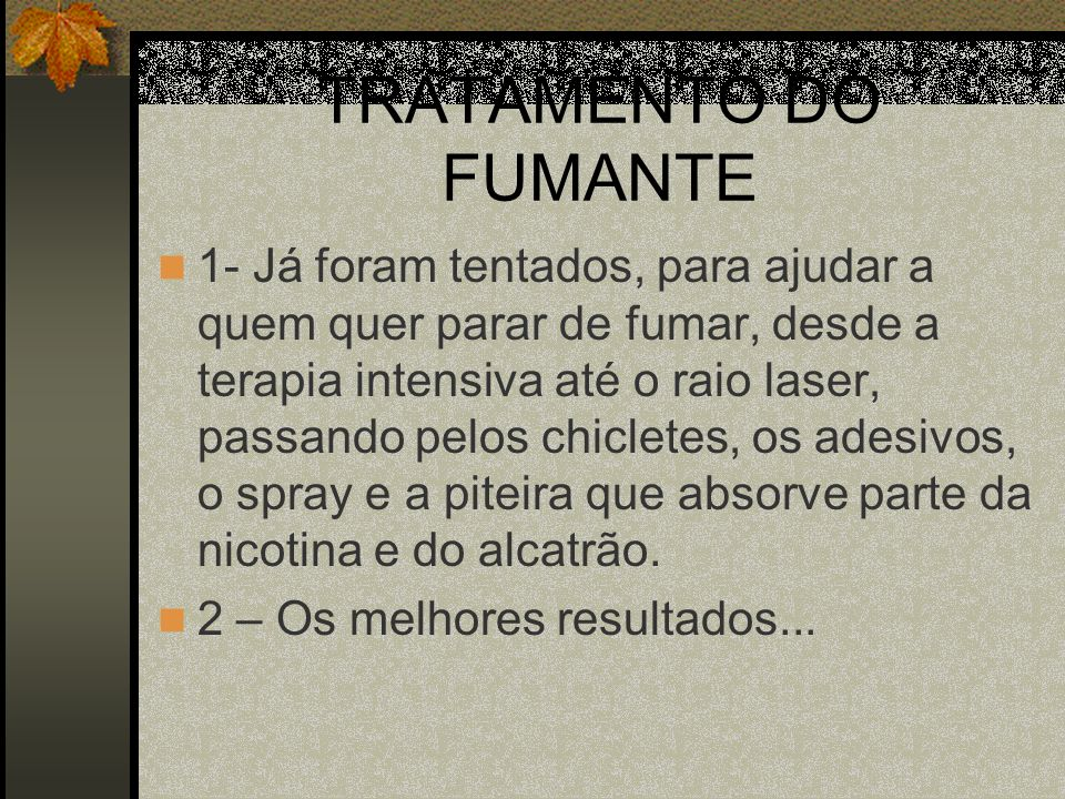 TRATAMENTO DO FUMANTE