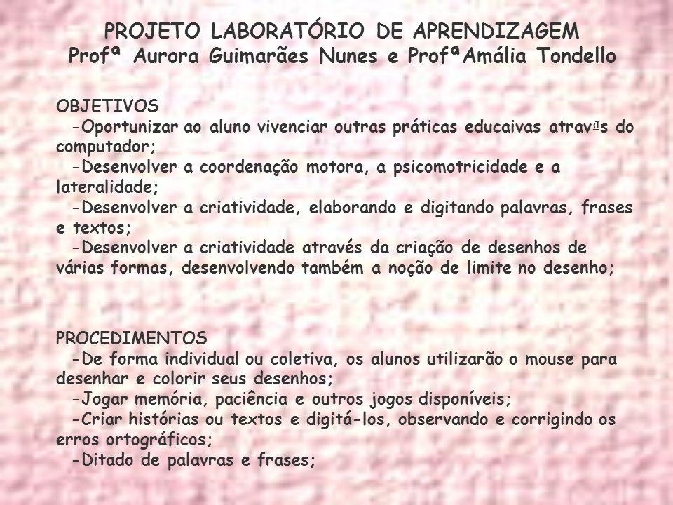 PROJETO LABORATÓRIO DE APRENDIZAGEM