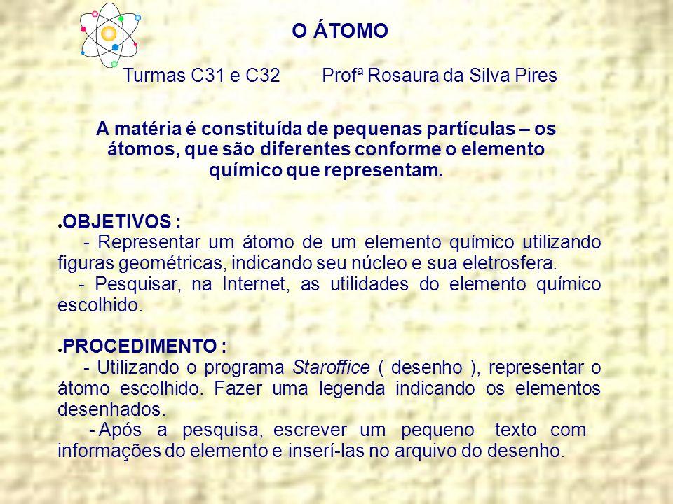 Turmas C31 e C32 Profª Rosaura da Silva Pires