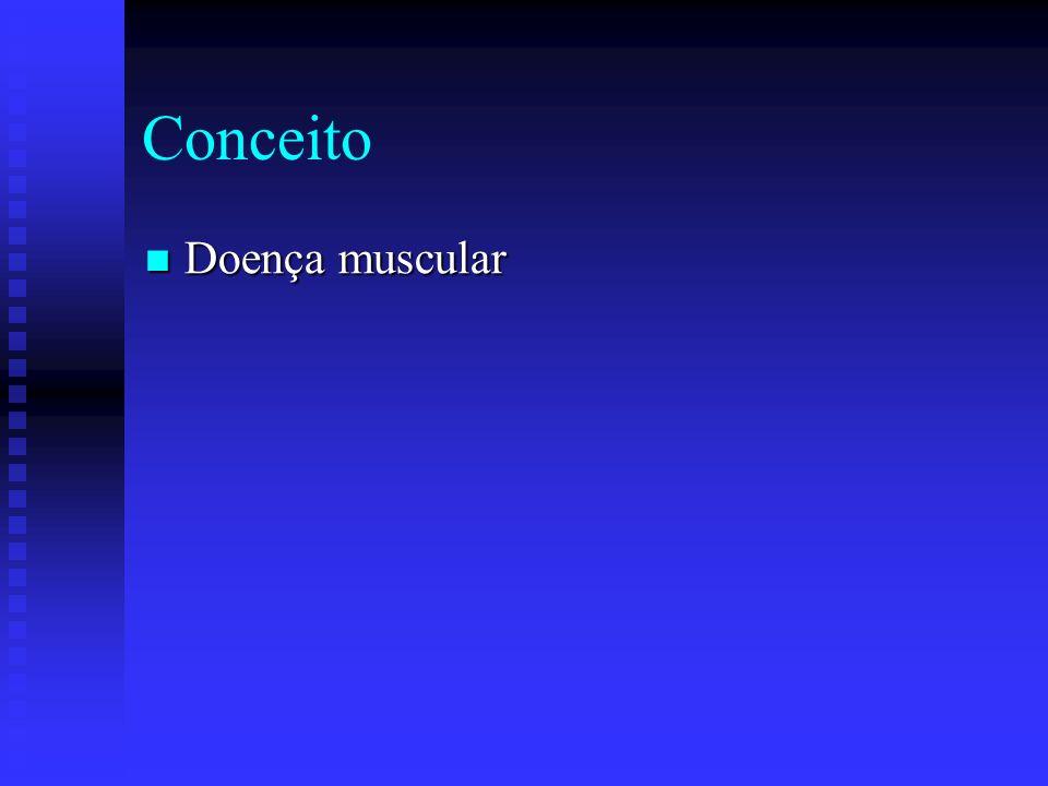 Conceito Doença muscular