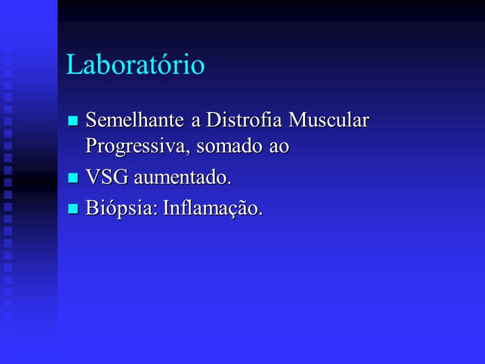 Laboratório Semelhante a Distrofia Muscular Progressiva, somado ao
