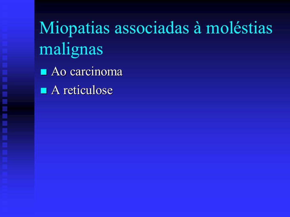 Miopatias associadas à moléstias malignas